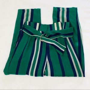 NWT J.O.A x Chriselle Striped Pants